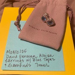 David Yurman Albion blue topaz with diamonds